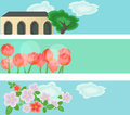 Free Banners With Illustrations Stock Photos - 24441163