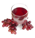 Free Glass Of Red Grape Juice Stock Photography - 24442122