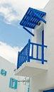 Free Blue Balcony Of White House Stock Image - 24443111
