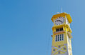 Free Yellow Clock Tower With Blue Sky Royalty Free Stock Images - 24443359