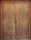 Free Ancient Wooden Carved Door Stock Photography - 24447982