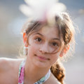 Free Pretty Young Girl Looks At Camera Royalty Free Stock Photography - 24448107