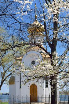 A Chapel At A Riverbank Stock Photos