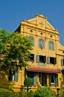 An Old Style Building In Thailand Royalty Free Stock Photography