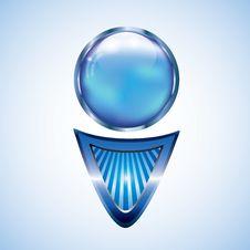 Free Futuristic Blue Arrow Design Element Stock Image - 24444211