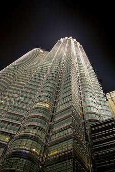 Petronas Twin Tower, Base View Stock Images