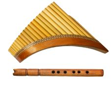 Free Two Traditional Wooden Flutes Stock Photography - 24445612