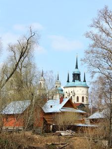 Rural Landscape With Church Royalty Free Stock Photo