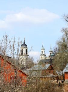 Rural Landscape With Church Stock Images