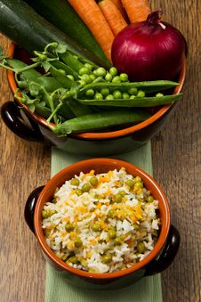 Risotto With Fresh Vegetables Stock Images