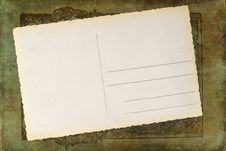 Free Blank Postcard On An Antique Spine Stock Images - 24447774