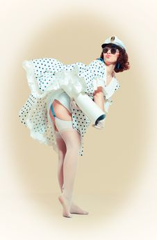 Free Pin-up Girl Royalty Free Stock Photography - 24449007