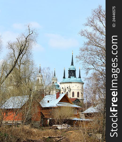 Rural landscape with church