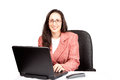 Free Adult Businesswoman Woking On Laptop Stock Photos - 24450753