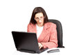 Free Adult Businesswoman Woking On Laptop Royalty Free Stock Photos - 24450758