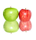 Free Fresh Apples  On White Royalty Free Stock Photo - 24452955