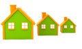 Free Three Houses Stock Photos - 24453973