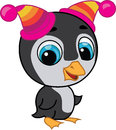 Free Illustration Of Cute Penguin In Two Hats Stock Image - 24456521