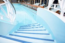 Pooll On The Deck Of A Cruise Ship Royalty Free Stock Image