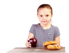 Free Kid Grabs Apple Stock Images - 24450764