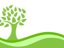 Free Abstract Green Eco Tree Background Stock Photo - 24451550