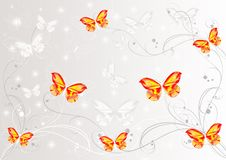 Abstract Butterflies Background Stock Photo