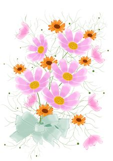 Free Flowers Card Design Stock Images - 24452924