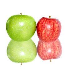 Free Fresh Apples  On White Royalty Free Stock Photo - 24452955