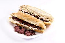 Free Sausage Sandwich Stock Image - 24453571