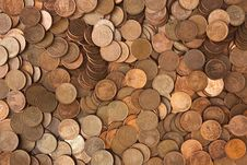 Background Of Pile Of Coins Royalty Free Stock Images