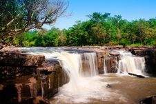 Tatton, Paradise Waterfall Located In Deep Forest Royalty Free Stock Photos