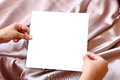 Free Women Hands Holding Blank White Paper Stock Photos - 24464463