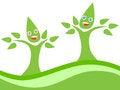 Free Happy Couple Eco Tree Royalty Free Stock Images - 24468089