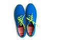 Free Blue Sneaker On White Background Stock Photos - 24469303