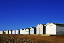 Free Row Of Beach Huts Royalty Free Stock Images - 24461049