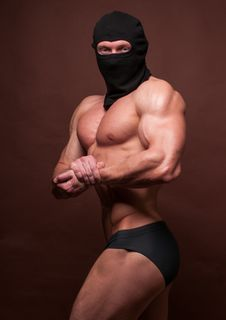 Athlete In A Mask Stock Photos