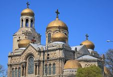 Free The Golden Domes Of The Cathedral Stock Image - 24464691