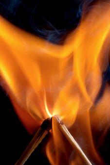 Free Burning Matchstick Stock Photography - 24464832