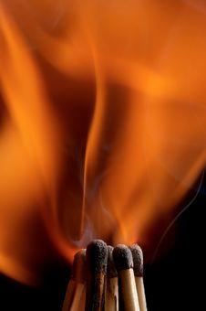 Free Burning Matchstick Royalty Free Stock Photos - 24464838