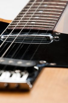 Strings On A Guitar Royalty Free Stock Photos