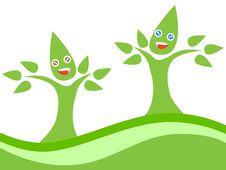 Free Happy Couple Eco Tree Royalty Free Stock Images - 24468089