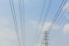 Free High Voltage Electrical Power Wire And Post Stock Photos - 24469543