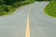Free High Way Curve Road Stock Image - 24469571