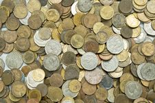Free Old Thai Coins Royalty Free Stock Photography - 24469647