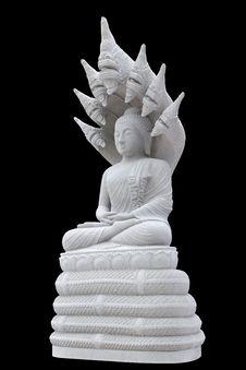 Buddha Statue Black Background Royalty Free Stock Image