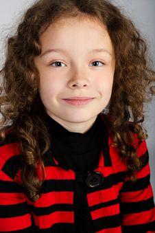 Free Portrait Of Cute Little Girl Stock Photos - 24473613