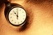 Free Stopwatch On Sand Royalty Free Stock Photos - 24475268