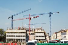 Free Construction Cranes Royalty Free Stock Photos - 24476968