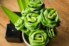 Free Pandanus Leaf Bending A Bouquet Stock Photo - 24477570