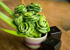 Free Pandanus Leaf Bending A Bouquet Stock Images - 24478034